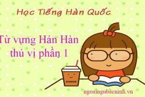 Từ vựng Hán Hàn thú vị phần 1