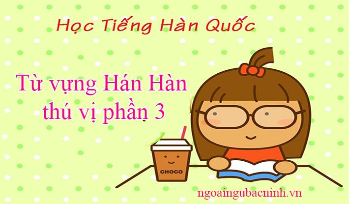 Từ vựng Hán Hàn thú vị phần 3