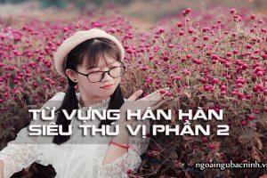 Từ vựng Hán Hàn siêu thú vị phần 2