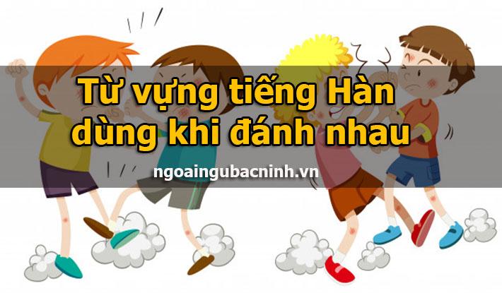 Từ vựng tiếng Hàn dùng khi đánh nhau