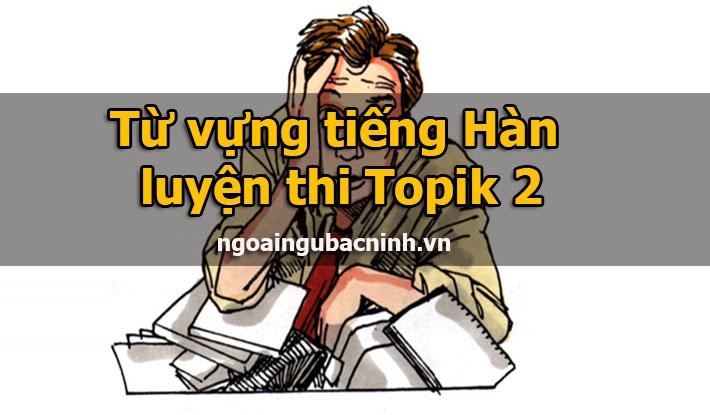 Từ vựng tiếng Hàn luyện thi Topik 2