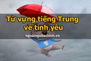 Từ vựng tiếng Trung về tình yêu