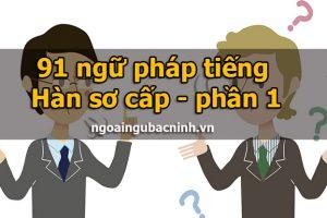 91 ngữ pháp tiếng Hàn sơ cấp - phần 1